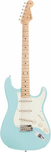 Musical Instruments:Electric Guitars, 1997 Fender Custom Shop '58 Re-Issue Stratocaster Daphne Blue Solid Body Electric Guitar, Serial # 12 of 15.. ...