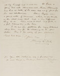 "Autographs:Authors, Irish Novelist Maurice Walsh (1879-1964) Autograph Letter Signed""Maurice Walsh"". Two pages, 7.25"" x 9.25"", Dublin, Nove..."