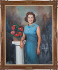 Movie/TV Memorabilia:Original Art, A Betty White Acrylic Painting by Dmitri Vail, 1965....