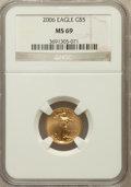 Modern Bullion Coins, 2006 G$5 Tenth-Ounce Gold Eagle MS69 NGC. NGC Census: (5731/6657).PCGS Population (1418/129). ...