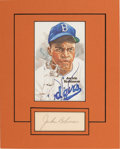 Autographs:Others, 1950's Jackie Robinson Signed Autograph Display....