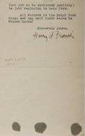 """Autographs:Authors, American Travel Writer Harry A. Franck (1881-1962) Typed LetterSigned """"Harry A. Franck"""". One page, 4.5"""" x 7"""", on his pe..."""
