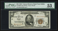 Fr. 1880-K $50 1929 Federal Reserve Bank Note. PMG About Uncirculated 53
