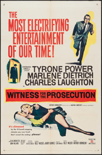 """Witness for the Prosecution (United Artists, 1958). One Sheet (27"""" X 41""""). Mystery"""