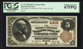 National Bank Notes:Kansas, Cawker City, KS - $5 1882 Brown Back Fr. 472 The Farmers &Merchants NB Ch. # 4618. ...