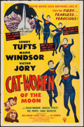 """Movie Posters:Science Fiction, Cat-Women of the Moon (Astor Pictures, 1954). One Sheet (27"""" X 41""""). Science Fiction.. ..."""
