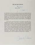 "Autographs:Authors, British Writer John le Carre Typed Quote Signed ""John leCarre"". One page, 8.5"" x 11"", typed by the collector (withmist..."