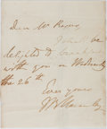 "Autographs:Statesmen, British Historian and Politician Thomas Babington Macaulay(1800-1859) Autograph Letter Signed ""T B Macaulay"". Onepage,..."