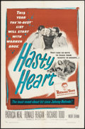 "Movie Posters:War, Hasty Heart (Warner Brothers, 1950). One Sheet (27"" X 41""), andTitle Lobby Card and Lobby Card (11"" X 14""). War.. ... (Total: 3Items)"
