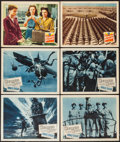 """Movie Posters:War, Hellcats of the Navy and Other Lot (Columbia, 1957). Lobby Cards(6) (11"""" X 14""""). War.. ... (Total: 6 Items)"""