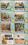 """Movie Posters:War, Wake Island (Paramount, R-1950). Lobby Card Set of 8 (11"""" X 14"""").War.. ... (Total: 8 Items)"""