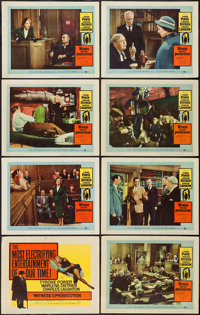 """Witness for the Prosecution (United Artists, 1958). Lobby Card Set of 8 (11"""" X 14""""). Mystery. ... (Total: 8 It..."""