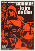 "Movie Posters:Adventure, Aguirre, the Wrath of God (Cinetel, 1975). Argentinean Poster (29""X 43""). Adventure.. ..."