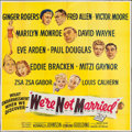 """Movie Posters:Comedy, We're Not Married (20th Century Fox, 1952). Six Sheet (80"""" X 80""""). Comedy.. ..."""