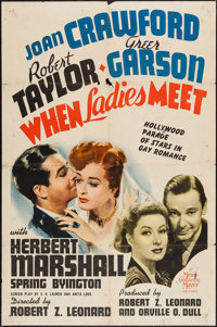 """When Ladies Meet (MGM, 1941). One Sheet (27"""" X 41"""") Style D and Lobby Card (11"""" X 14""""). Comedy..."""