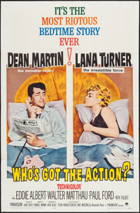 """Who's Got the Action? (Paramount, 1962). One Sheet (27"""" X 41"""") & Color Photos (4) (8"""" X 10""""). Co..."""