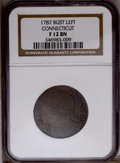 1787 COPPER Connecticut Copper, Draped Bust Left F12 NGC. NGC Census: (0/0). PCGS Population (29/361). (#370)...(PCGS# 3...