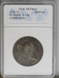 1795 1C Plain Edge--Corroded--ANACS. VG8 Details. S-76b. NGC Census: (10/139). PCGS Population (10/216). Mintage: 501,50...