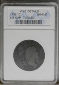 Large Cents: , 1796 1C Liberty Cap--Tooled--ANACS. VG8 Details. NGC Census: (9/100). PCGS Population (6/90). Mintage: 109,825. Numismedia ...