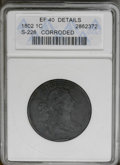 Large Cents: , 1802 1C --Corroded--ANACS. XF40 Details. S-226. NGC Census: (24/98). PCGS Population (38/74). Mintage: 3,435,100. Numismedia...