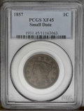 1857 1C Small Date XF45 PCGS. PCGS Population (11/24). NGC Census: (0/0). (#1931)...(PCGS# 1931)