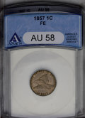 1857 1C AU58 ANACS and a 1938 Jefferson Nickel AU58 ANACS