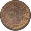 1880 1C MS65 Red and Brown NGC. NGC Census: (78/16). PCGS Population (40/0). Mintage: 38,964,956. Numismedia Wsl. Price:...