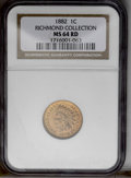 1882 1C MS64 Red NGC. NGC Census: (31/26). PCGS Population (95/93). Mintage: 38,581,100. Numismedia Wsl. Price: $276. (#...
