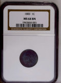 1883 1C MS64 Brown NGC. NGC Census: (66/58). PCGS Population (20/6). Mintage: 45,598,108. Numismedia Wsl. Price: $85. (#...