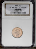 Indian Cents: , 1892 1C MS64 Red NGC. NGC Census: (50/40). PCGS Population (75/59). Mintage: 37,649,832. Numismedia Wsl. Price: $208. (#218...