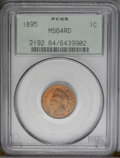 Indian Cents: , 1895 1C MS64 Red PCGS. PCGS Population (121/118). NGC Census: (77/81). Mintage: 38,343,636. Numismedia Wsl. Price: $200. (#...