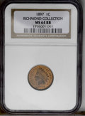 1897 1C MS64 Red and Brown NGC. NGC Census: (130/100). PCGS Population (132/19). Mintage: 50,466,328. Numismedia Wsl. Pr...