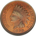 Indian Cents: , 1899 1C MS64 Red NGC. NGC Census: (114/200). PCGS Population (242/311). Mintage: 53,600,032. Numismedia Wsl. Price: $142. (...