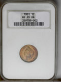 1901 1C MS65 Red and Brown NGC. NGC Census: (148/23). PCGS Population (61/4). Mintage: 79,611,144. Numismedia Wsl. Price...
