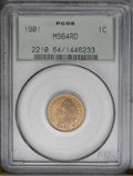 1901 1C MS64 Red PCGS. PCGS Population (290/224). NGC Census: (123/126). Mintage: 79,611,144. Numismedia Wsl. Price: $15...