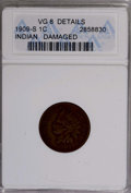 1909-S 1C --Damaged--ANACS. VG8 Details. NGC Census: (61/1136). PCGS Population (35/1179). Mintage: 309,000. Numismedia...