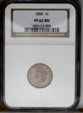 1868 1C PR62 Brown NGC. NGC Census: (2/17). PCGS Population (0/9). Mintage: 600. (#2291)...(PCGS# 2291)