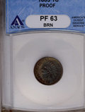Proof Indian Cents: , 1883 1C PR63 Brown ANACS. NGC Census: (22/169). PCGS Population (25/123). Mintage: 6,609. Numismedia Wsl. Price: $142. (#23...