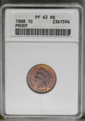 1888 1C PR62 Red and Brown ANACS. NGC Census: (4/82). PCGS Population (7/170). Mintage: 4,582. Numismedia Wsl. Price: $1...
