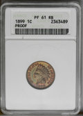1899 1C PR61 Red and Brown ANACS. NGC Census: (0/118). PCGS Population (0/173). Mintage: 2,031. (#2385)...(PCGS# 2385)
