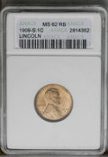 1909-S 1C MS62 Red and Brown ANACS. NGC Census: (12/349). PCGS Population (15/549). Mintage: 1,825,000. Numismedia Wsl...