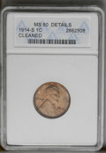 1914-S 1C Brown--Cleaned--ANACS. MS60 Details. NGC Census: (0/88). PCGS Population (1/71). Mintage: 4,137,000. Numismedi...