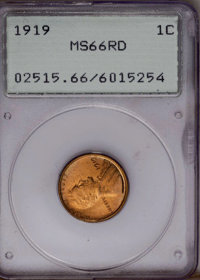 1919 1C MS66 Red PCGS. PCGS Population (211/67). NGC Census: (67/11). Mintage: 392,020,992. Numismedia Wsl. Price: $369...