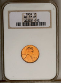 1930 1C MS67 Red NGC. NGC Census: (247/0). PCGS Population (64/1). Mintage: 157,415,008. Numismedia Wsl. Price: $600. (#...