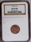 1931-S 1C MS65 Red and Brown NGC. NGC Census: (203/8). PCGS Population (71/0). Mintage: 866,000. Numismedia Wsl. Price:...