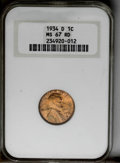1934-D 1C MS67 Red NGC. NGC Census: (22/0). PCGS Population (19/0). Mintage: 28,446,000. Numismedia Wsl. Price: $1,375...