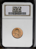 1935-D 1C MS67 Red NGC. NGC Census: (172/0). PCGS Population (65/1). Mintage: 47,000,000. Numismedia Wsl. Price: $220. (...