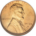 Lincoln Cents: , 1935-D 1C MS67 Red NGC. NGC Census: (172/0). PCGS Population (65/1). Mintage: 47,000,000. Numismedia Wsl. Price: $220. (#26...