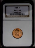 Lincoln Cents: , 1950 1C MS67 Red NGC. NGC Census: (63/0). PCGS Population (17/0). Mintage: 272,686,400. Numismedia Wsl. Price: $120. (#2779...