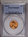 1956-D 1C MS66 Red PCGS. PCGS Population (769/17). NGC Census: (1308/49). Mintage: 1,098,201,088. Numismedia Wsl. Price:...